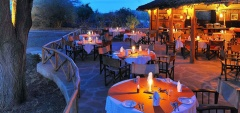 Satao Camp - Outdoor dining