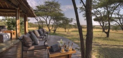 Naboisho Camp - Outdoor veranda