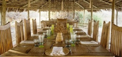 Kigelia camp - dining area