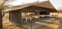 Kati Kati Camp - dining area