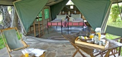 Lake Manze Camp - the tents